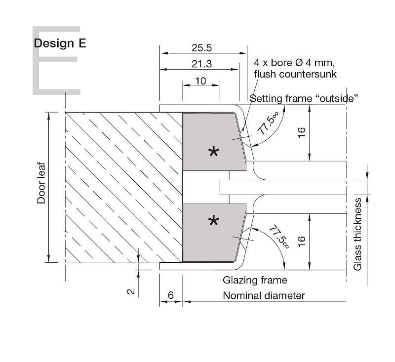 Aluminium Porthole Design E -