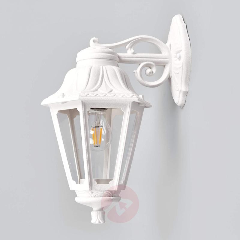 LED outdoor wall light Bisso Anna, lantern down - outdoor-led-lights