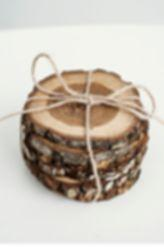 WOODEN DECORATIONS - CUP COASTERS