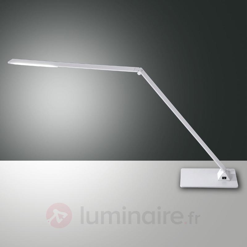 Lampe de bureau LED Wasp plate en aluminium - Lampes de bureau LED