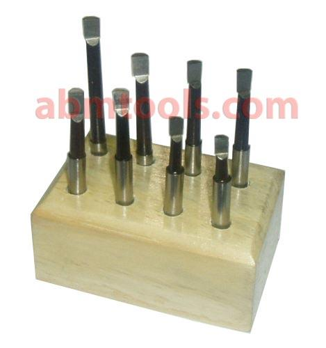 Boring Head Sets - Carbide tipped 9-piece boring bar set includes 3 different length boring bars