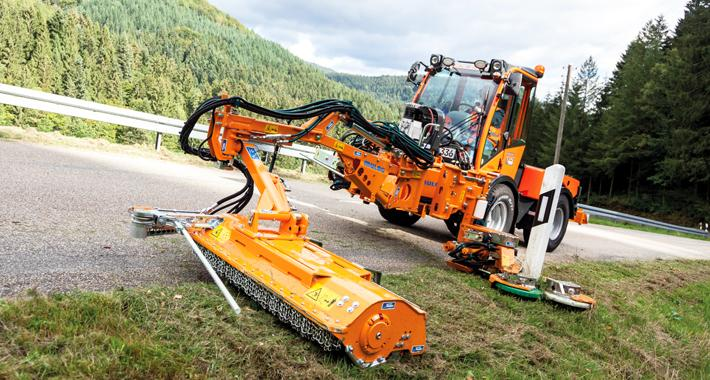 Customized designs - MULAG Reflexion post and verge mower