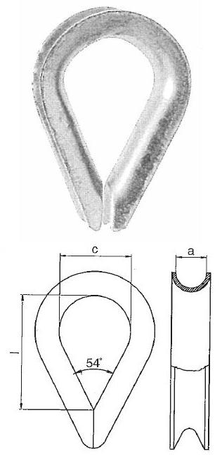 Cosses et serre-câbles - Cosse standard galvanisée