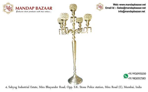 Decorative Accessories - Crystal Candlelabra Wedding Centrepiece