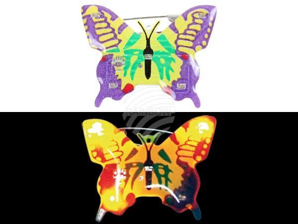 Blinki Blinker lila gelb Motiv: Schmetterling - null