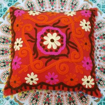 Embroidered Pillow Covers - Embroidered Pillow Cover