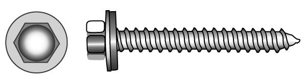Facade building screws type A and BZ (Ø 16 mm) - Material A2