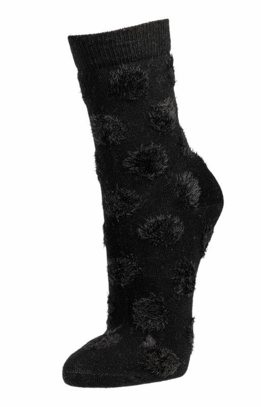 """2148 - """"Fluffy Dots"""" Ladies Socks  - pre-washed soft quality with effect yarn"""