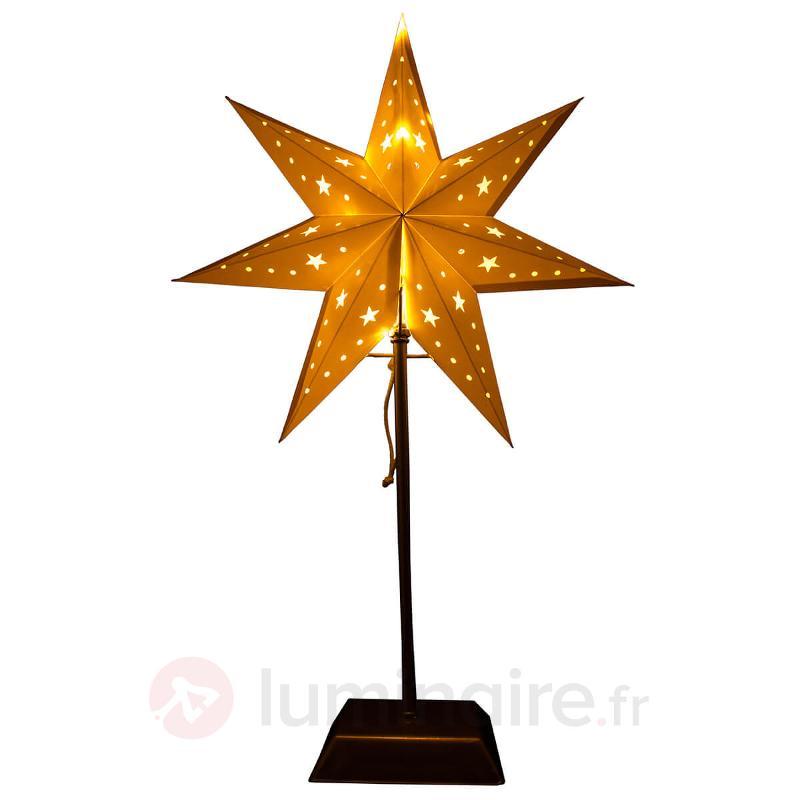 Étoile en papier LED 7 branches Whitemas - Etoiles de Noël