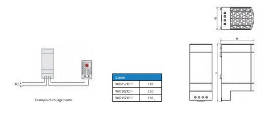 Wid05÷15zx0p Riscaldatori Anticondensa Con Superficie Protetta - LINEA CLIMATIZZAZIONE