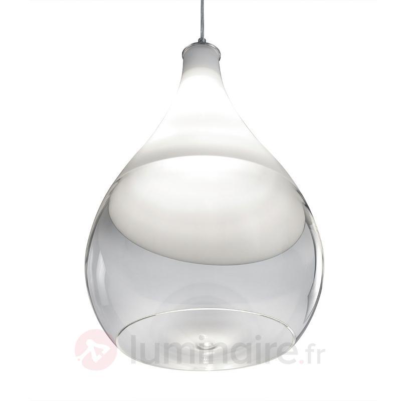 Suspension Kingston avec abat-jour en verre - Suspensions en verre