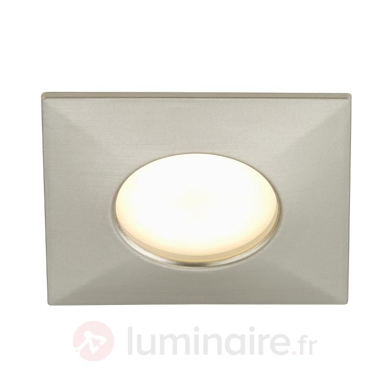 Spot encastré LED Luca IP44 nickel - Spots encastrés LED