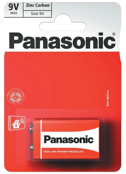 Batterie transistor 9V zinco carbone - 6F22RZ1BP | Blister da 1 pila 9V Panasonic