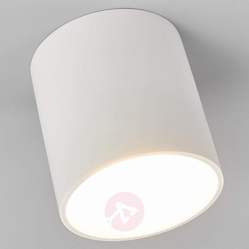 Emia - plaster LED ceiling light, round shape - Ceiling Lights