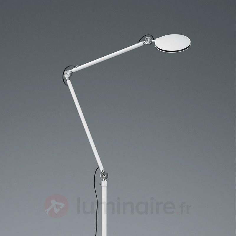 Lampadaire LED Roderic moderne en blanc - Lampadaires LED