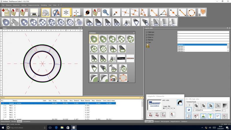 Kabelmesssoftware FMC 3 - Software zur Prüfung geometrischer Merkmale von Kabeln und isolierten Leitungen