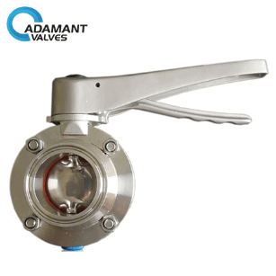 Sanitary Butterfly Valves - Sanitary Butterfly Valves with Tri-clamp Ends, SS Lever Handle