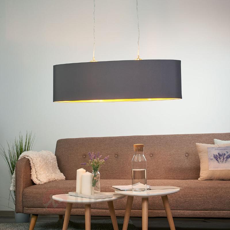 Suspension textile noire-dorée Lecio - Suspensions en tissu