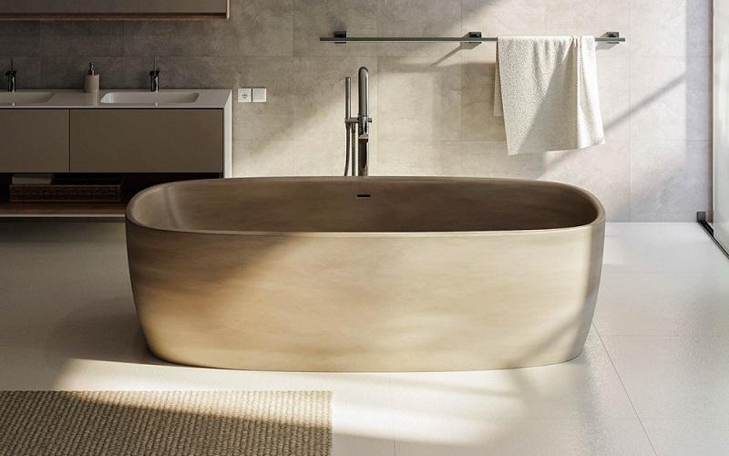 Coletta Каменная Ванна - Отдельностоящая, песочного цвета, размер 180 x 90 x 50 см