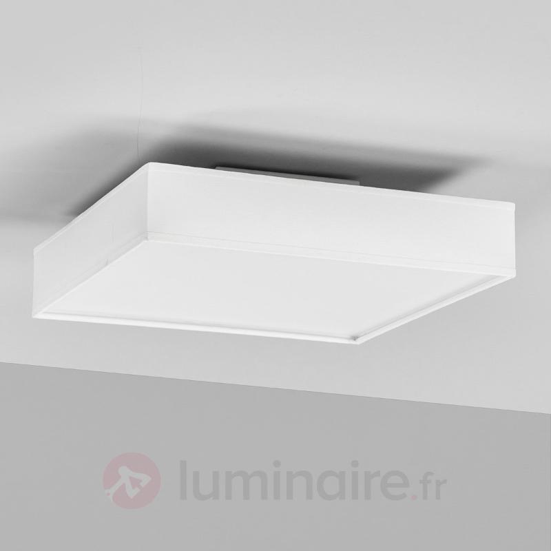 Plafonnier rectangulaire LED Aka en blanc - Plafonniers en tissu