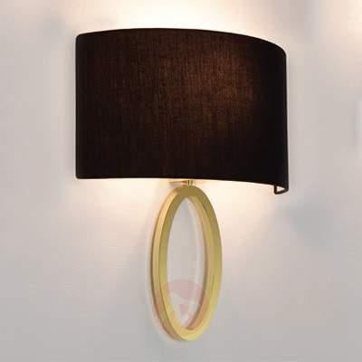 Lima - wall light in gold with black lampshade - Wall Lights