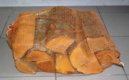 sausos malkos  - maišeliuose