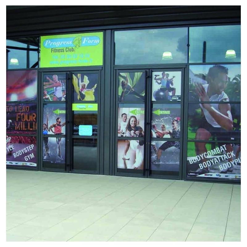 Autocollants pour vitrine - Autocollants publicitaires et autocollant personnalisé