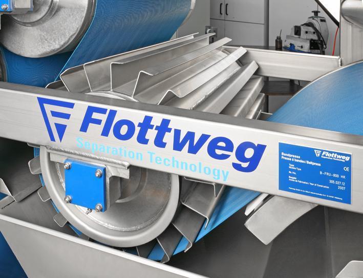 Pressa a nastro Flottweg - La pressa a nastro per i processi di disidratazione e filtrazione