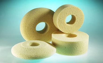 Special sponges - Machine sponges made of hydro foam for the ceramics industry
