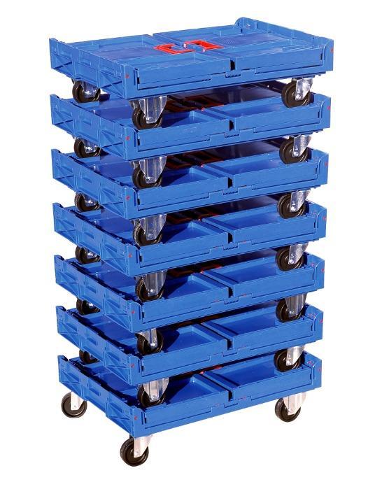 Folding boxes - solid base, 183L