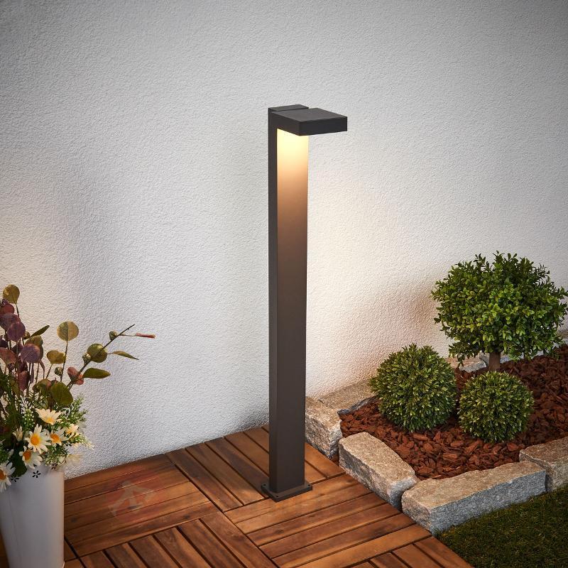 Éclairage pour chemin LED Toska gris foncé - Bornes lumineuses LED