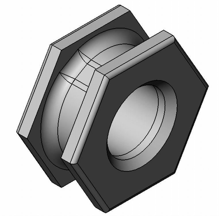 Einspritzmutter Sechskant - Zamak - blank - Einlegeteile