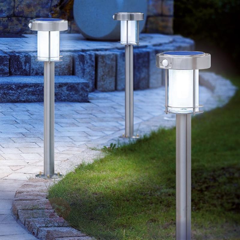 Lanterne solaire ANCONA en inox - Lampes solaires avec détecteur