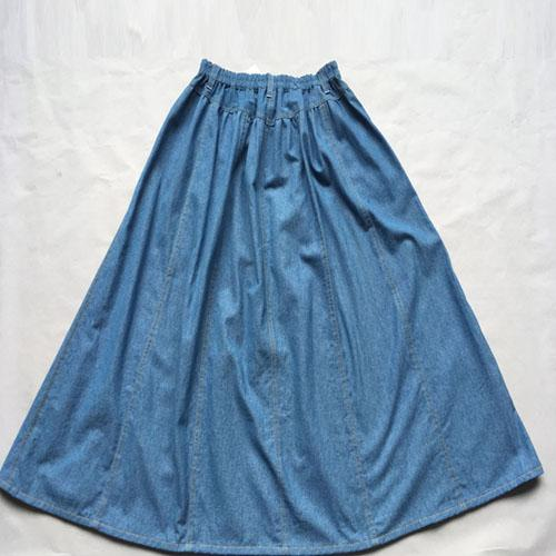 Falda de mezclilla larga  - Falda de mezclilla larga