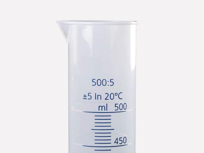 Probetas, PP, escala transparente - Equipo de laboratorio, dispositivos de medición