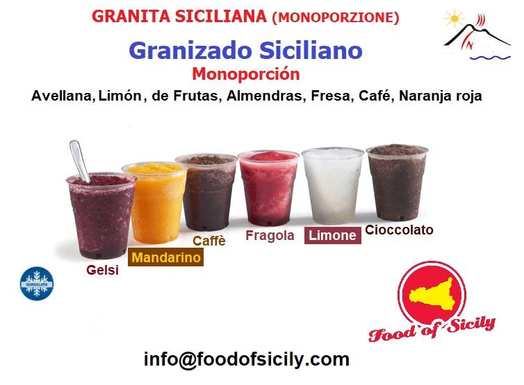 Granite Siciliane Artigianali. Prodotto surgelato. - Prodotto di alta qualità. Disponibile pozzetti tipo Bar e monoporzione.