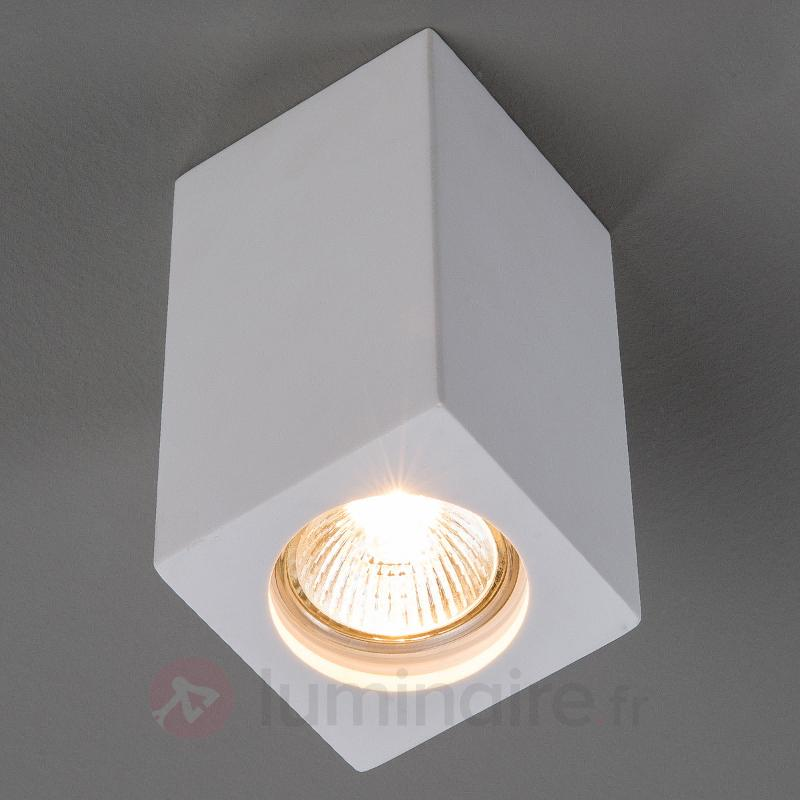 Spot en plâtre Anelie pour ampoule GU10