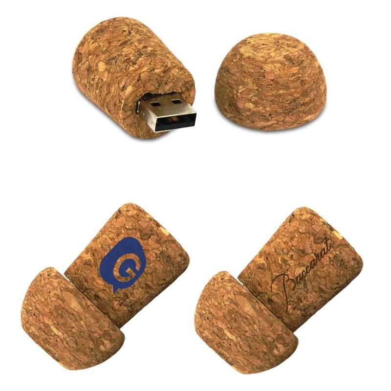 Cle USB Bouchon Champagne - Clé USB Bois & Biodégradable