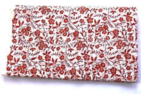 Fabric Floral Hand Block Print Handmade Cotton Sanganeri Pri