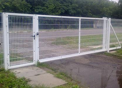 Ворота откатные ограждения из сварной сетки - 1,5х3 м RAL