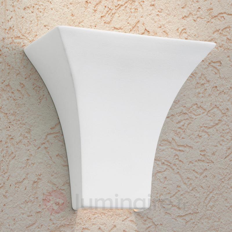 Applique angulaire ANTONIE, céramique blanc - Toutes les appliques
