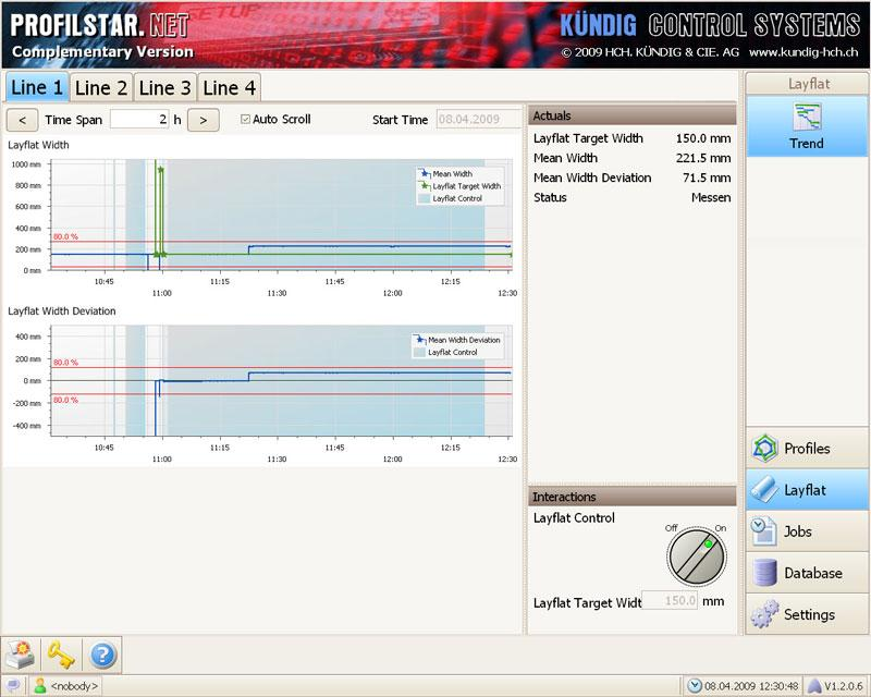 Visualisation for Gauge and Layflat - Profilstar.NET