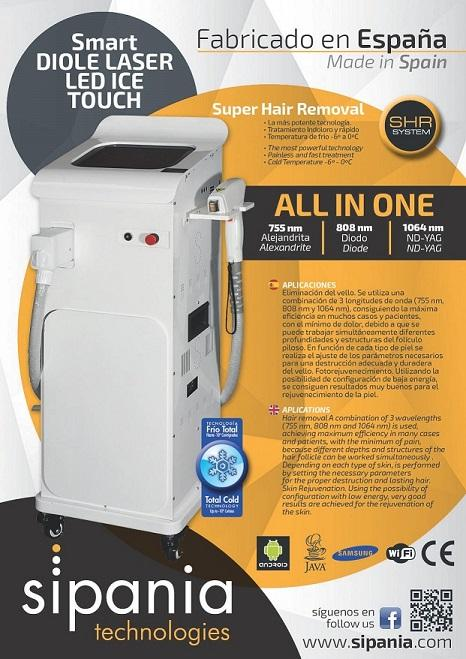 smart cube ICE TOUCH TRI-WAVES - Super Hair Removal  La más potente tecnología. Tratamiento indoloro y rápido. Ta