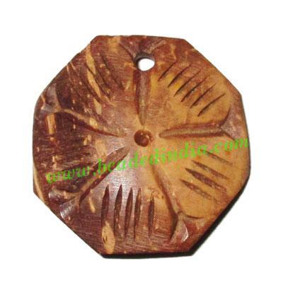 Handmade coconut shell wood pendants, size : 28x3mm - Handmade coconut shell wood pendants, size : 28x3mm