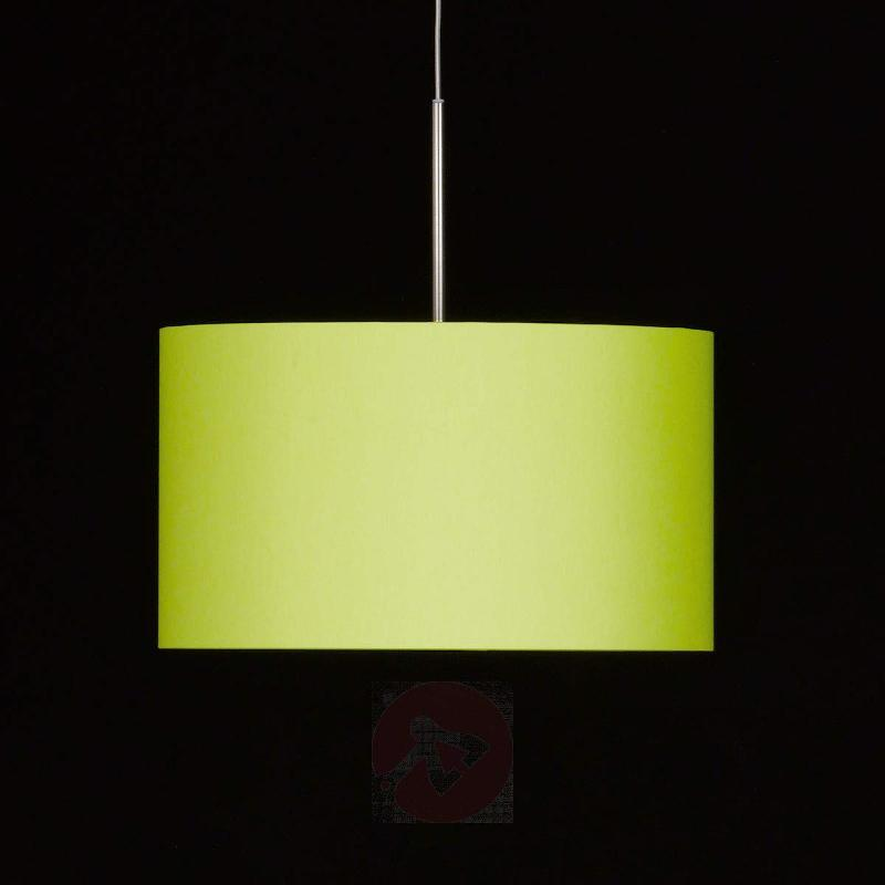 Round fabric hanging light Estadio in apple green - Pendant Lighting