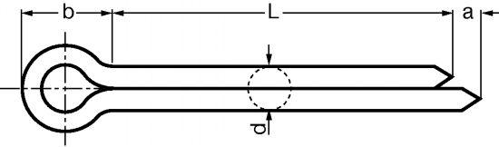 GOUPILLE FENDUE INOX A4 - DIN 94 - ISO 1234 (418701)