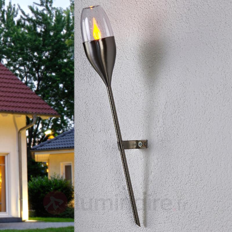 Applique solaire Jari avec LED vacillante - Lampes solaires décoratives