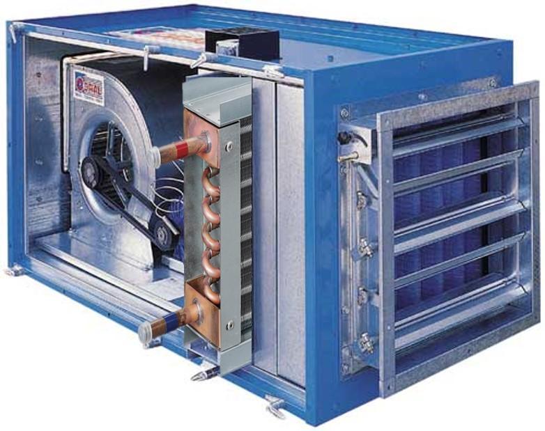 CTA soufflante avec batterie à eau chaude ou froide - Centrale de traitement de l'air