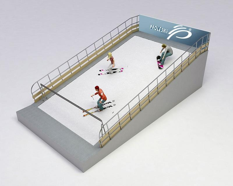 PROLESKI PRO3 Endless ski slopes Fun ride Indoor attraction  - Proleski Pro 3 simulator model