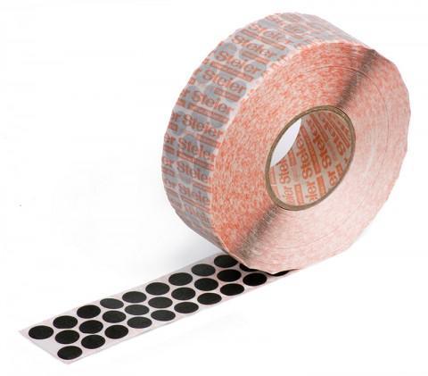 black self-adhesive fabric marking dots 12 mm - coloured fabric, Steierform 87-67401